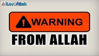WARNING FROM ALLAH| *Emotional* Mufti Menk