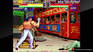 ACA NEOGEO ART OF FIGHTING 2 PS4 Arcade Mode Robert Garcia
