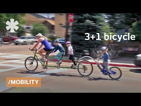 A family bike: a bicycle built for 3 (plus 1)