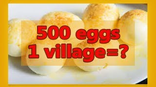 500 egg curry to make in village. facts and funny