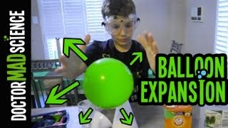 Blow up a balloon WITHOUT hands - Science Magic Tricks for Kids