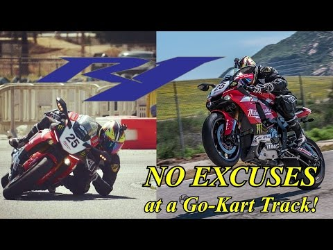 NO EXCUSES - R1 shredding it at a Go-Kart Track!