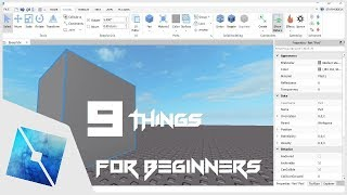 ROBLOX Tutorial | 9 Things For ROBLOX Studio Beginners