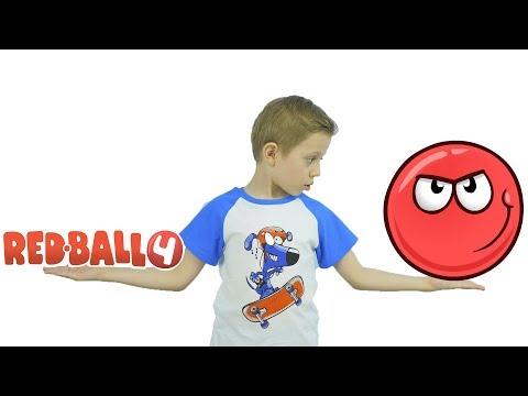 Красный Шарик БОСС Ниндзя №2 Эпизод Дремучий Лес - Даник и Папа играют в Red Ball 4