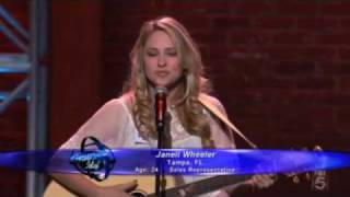 "AMERICAN IDOL 9 contestant Janell Wheeler performing ""American Boy"" (Hollywood Week: Round 1)"