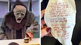 Criminal Hands Creepy Note To Women Riding Train, She Knows Faking A Seizure Is Her Only Chance