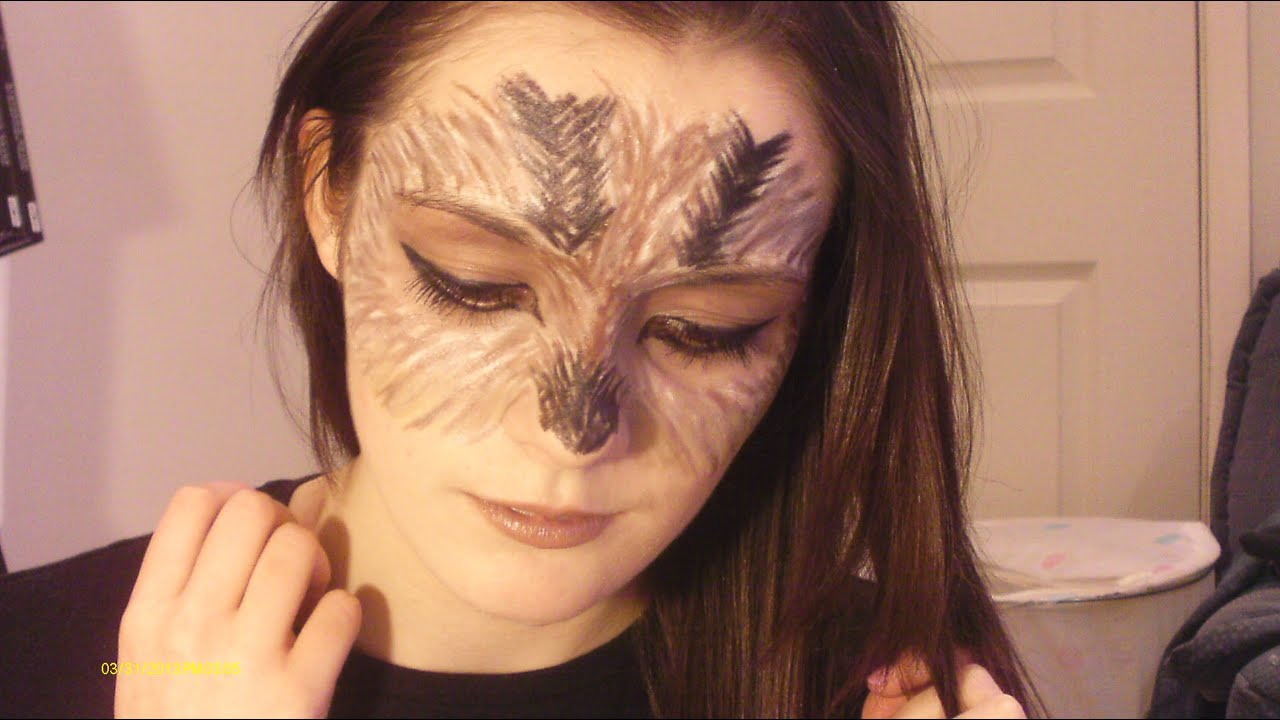 Blodeuwedd the Owl  Halloween Makeup Tutorial