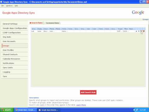 Google Apps Directory Sync (GADS) - Live demo