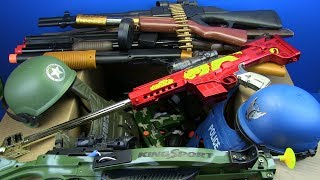 Box of Toys ! Military & Police Guns Toys - Toy for Kids