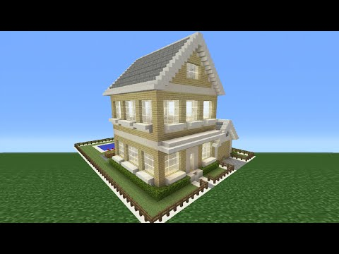 Minecraft Tutorial: How To Make A Suburban House