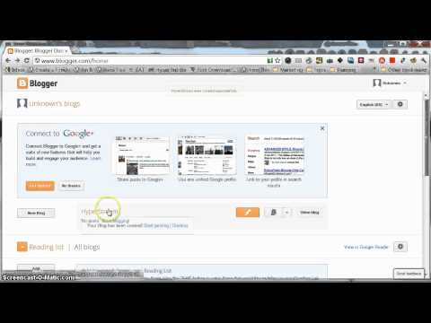 Creating a Blog on Blogger