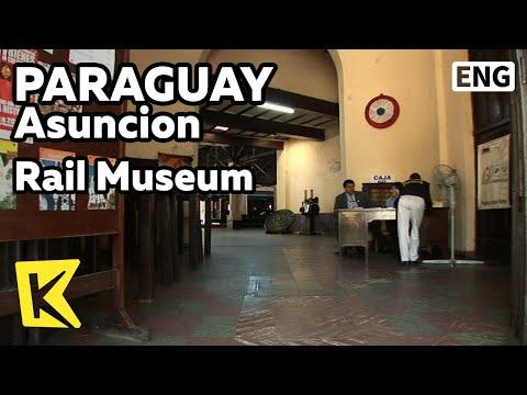 【K】Paraguay Travel-Asuncion[파라과이 여행-아순시온]남미 최초 기차역, 중앙역 기념관/Rail Museum/Train/Steam Locomotive
