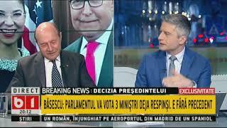TALK CU T. MUSAT. BASESCU:PSD a băgat țara în criză politică.Președintele o să îi calce în picioare