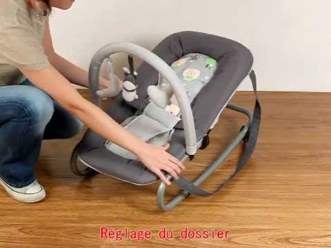 Transat b b t6 doggy s lection youtube for Chaise haute babybjorn