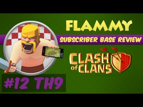 Subscriber Base Review #12 - Town Hall 9 - Clash of Clans Defensive Strategy