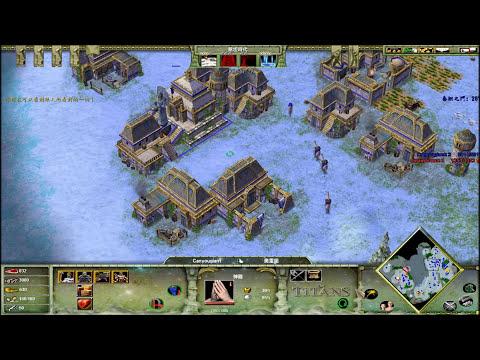 [Age of Mythology:The Titans]神話世紀泰坦 1 vs 1 online game : 虐殺
