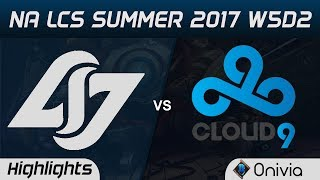CLG vs C9 Highlights Game 1 NA LCS Summer 2017 Counter Logic Gaming vs Cloud9 by Onivia