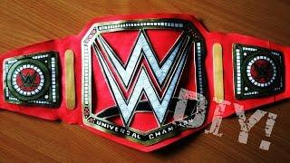 How to make WWE Universal Championship title belt