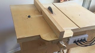 Building 4 in 1 Workshop (Homemade table saw, router table, disc sander, jigsaw table)