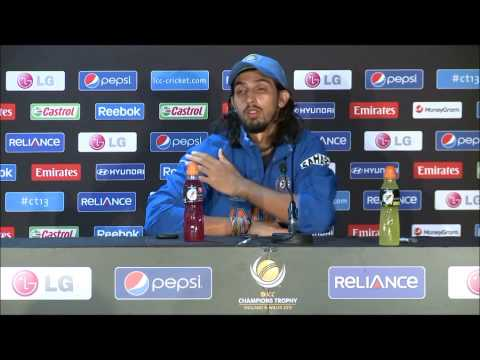 Ishant Sharma Post-match Press Conference, Sri Lanka v India, ICC CT Semi-final,  20 June 2013