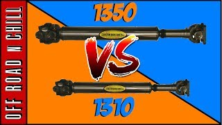Difference Between Tom Woods 1310 VS 1350 / Jeep Wrangler Driveshaft Battle