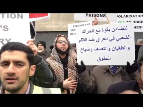 End Rape in Iraqi Prisons Protest held at Iraqi Embassy