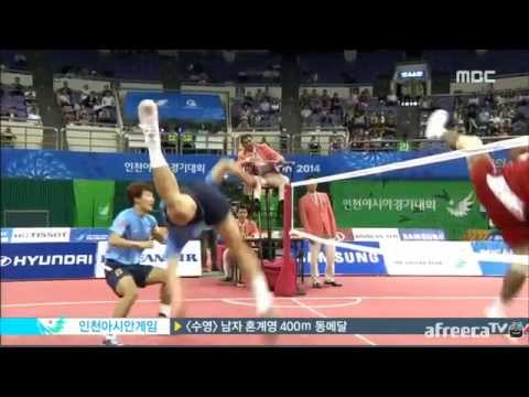 2014 Asian Games Sepaktakraw - Korea Vs. Indonesia Team Event Highlights video