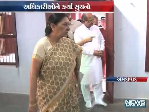 CM Anandiben Patel observes to all places of PM Narendra modi's visit