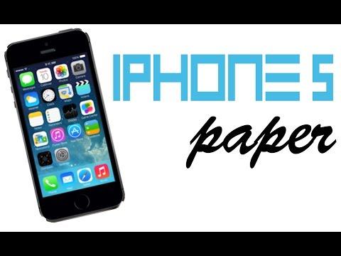 Iphone 5 из бумаги (Iphone 5 paper) Айфон 2015