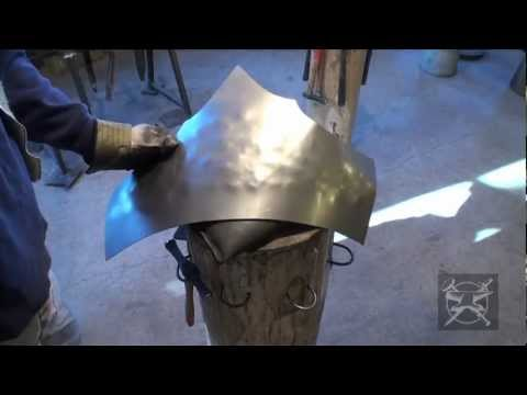 Fabrication d'armure mdivale Making of medieval armor #16