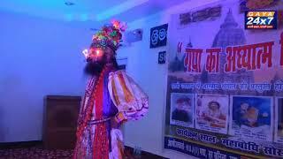 बोधगया :मूंछ पर मोमबत्ती जलाकर संगीत की विभिन्न धुनों पर नृत्य करने वाले राजेंद्र तिवारी
