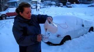 Changer l'eau en neige en une seconde . Magie Magie