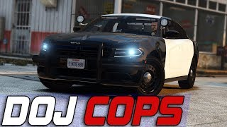 Dept. of Justice Cops #677 - Retired Police Cruiser