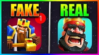 FAKE CLASH ROYALE vs REAL CLASH ROYALE!