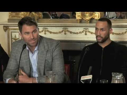 FROCH VACATES IBF TITLE, DeGALE FIGHTS FOR THE BELT - PRESS CONF. WITH EDDIE HEARN & JAMES DeGALE