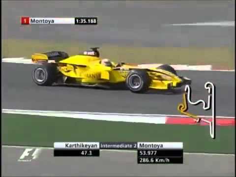 Narain Karthikeyan one lap run, 2005 Chinese GP Qualifying
