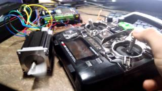 BLDC motor 57BLF drived by Arduino and RC reciever