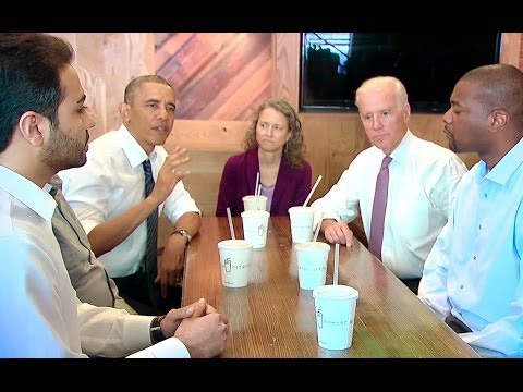 The President and Vice President Get Lunch -- and Talk About Transportation Funding