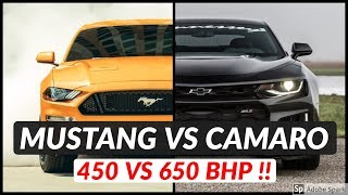 Chevrolet Camaro ZL1 vs Ford Mustang GT Top Speed and Acceleration Comparison