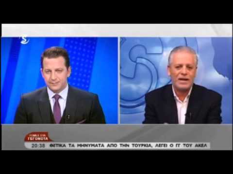 Marinos Sizopoulos Cyprus EDEK - interviewed by Sigma TV