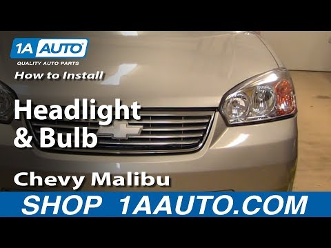 How To Install Replace Headlight and Bulb Chevy Malibu 04-08 1AAuto.com