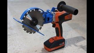 """Sega circolare fai da te """"Drill hack"""" (homemade circular saw)"""