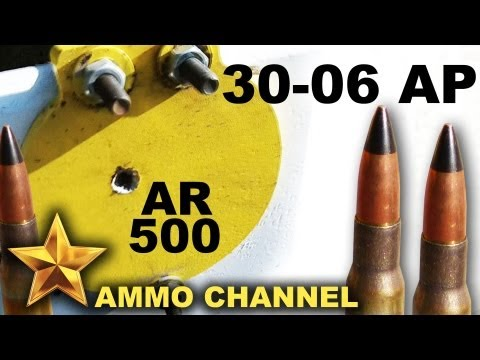 AMMOTEST SHORT: 30-06 Armor Piercing vs. AR500 (Out-take subclip from full video)