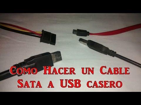 Cable o Adaptador de Corriente SATA a USB CASERO