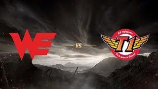 Team WE ( WE ) vs SK telecom T1 ( SKT ) | MSI 2017 Grup Aşaması 2. Gün