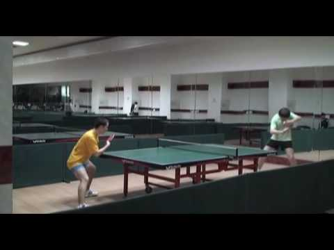 amateur players of table tennis playing to increase their level. good moves, ...