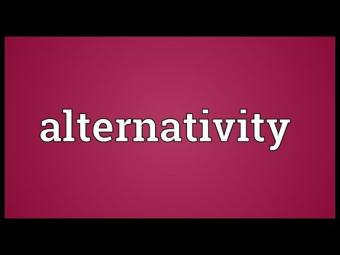 Header of Alternativity