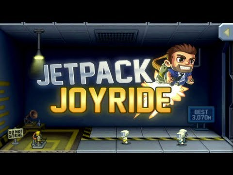 Jetpack Joyride iPhone/iPad Gameplay (Universal App)