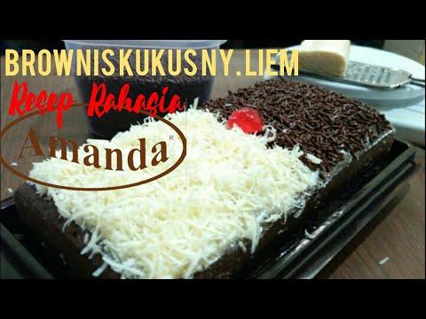 Resep dan Cara Membuat Brownis Kukus Lapis Coklat Ny.Liem (Tutorial)