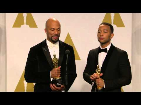 Oscars: Common & John Legend Backstage Interview 2015